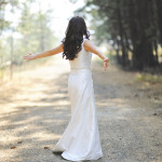 A Sleek and Modern Silk Wedding Dress | Tonie Christine Photography | See More! http://heyweddinglady.com/fresh-and-chic-modern-rustic-washington-wedding/