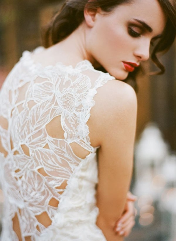 Modern Romance Wedding Dress : Floral lace wedding dress by claire pettibone this modern romance