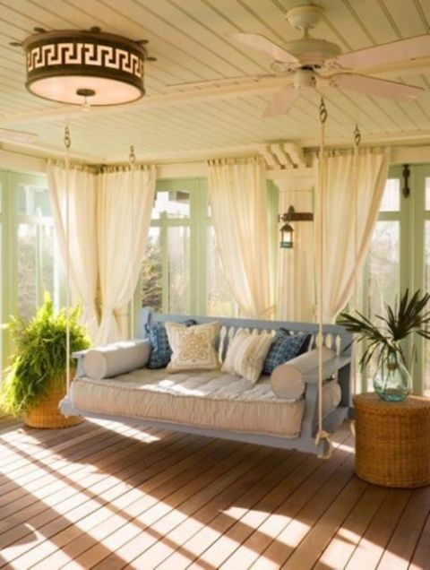 Relaxed and Cozy Sunroom | See More! https://heyweddinglady.com/southern-comfort-relaxed-and-romantic-azure-blue-wedding/