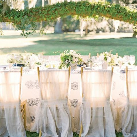 Ethereal Ivory and Azure Blue Wedding Reception | Corbin Gurkin | See More! https://heyweddinglady.com/southern-comfort-relaxed-and-romantic-azure-blue-wedding/