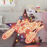 Modern Neon Wedding Ideas | See More! http://heyweddinglady.com/modern-neon-wedding-inspiration-blue-cherry/