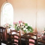 A warm and inviting farmhouse setting for an Anthropologie inspired bridal shower | Tonie Christine Photography | See More! http://heyweddinglady.com/vintage-spring-anthropologie-inspired-bridal-shower/