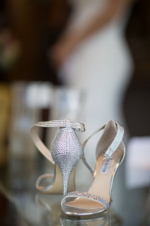 Glam Silver Wedding Shoes | Maru Photography | See More! https://heyweddinglady.com/glam-purple-and-green-enchanted-forest-wedding-from-maru-photography/