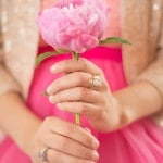 A Tulle Skirt, Pink Peony, and Glittering Blazer for a Fabulous Engagement Shoot | Sounds Like Yellow Photography | See More! http://heyweddinglady.com/glitter-and-peonies-and-cupcakes-oh-my-a-bake-shoppe-engagement-from-sounds-like-yellow-photography/