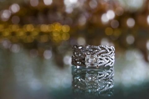 Branch Inspired Diamond Engagement Ring | Robin McKerrell Photography | See More! https://heyweddinglady.com/the-couture-bride-dramatic-wedding-day-style-from-robin-mckerrell-photography/