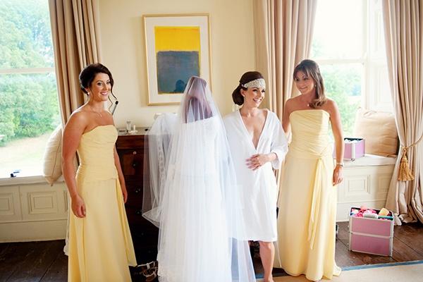 Sunny Yellow Floor Length Bridesmaid Dresses   Weddings by Kara   See More! http://heyweddinglady.com/jazz-age-spring-wedding-in-ireland-by-weddings-by-kara/