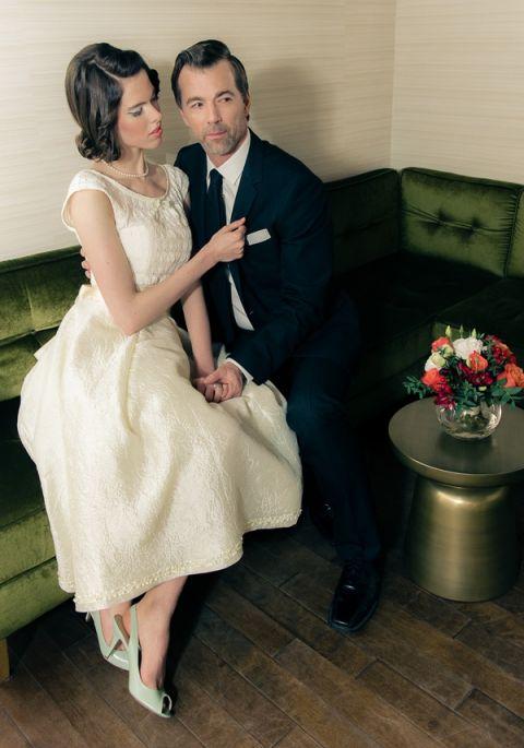 Retro Fabulous Mad Men Wedding Styled Shoot From Esenses