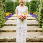 Boho Bridal Style in Bright Pink and Yellow at the Dallas Arboretum | Andrea Elizabeth Photography | See More! http://heyweddinglady.com/bright-pink-and-yellow-boho-bride-shoot-at-the-dallas-arboretum/