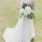 Classic Diamond Patterned Wedding Dress | Alyssa Morgan Photography | See More! https://heyweddinglady.com/classically-elegant-southern-spring-wedding-shoot-from-alyssa-morgan-photography/