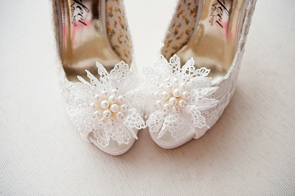 Floral Lace and Pearl Wedding Shoes   Weddings by Kara   See More! http://heyweddinglady.com/jazz-age-spring-wedding-in-ireland-by-weddings-by-kara/