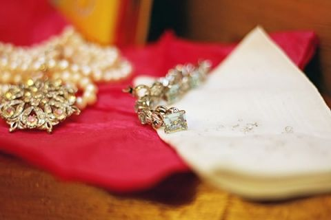 Handmade and Vintage Wedding Jewelry | May Gunsul Photography | See More! http://heyweddinglady.com/fairy-tale-wedding-in-a-snowy-mountain-lodge-from-may-gunsul-photography/