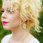 Gold and Opal Chloe and Isabel Earrings | Andrea Elizabeth Photography | See More! https://heyweddinglady.com/bright-pink-and-yellow-boho-bride-shoot-at-the-dallas-arboretum/