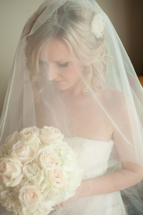Romantic Veiled Bridal Portraits | Captured by Belinda | See more! http://heyweddinglady.com/ethereal-beach-wedding-after-the-storm-from-captured-by-belinda/
