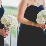 Bridesmaids in Navy | Captured by Belinda | See more! https://heyweddinglady.com/ethereal-beach-wedding-after-the-storm-from-captured-by-belinda/