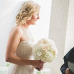 A Gorgeous British Bride walks down the aisle at a private Florida beach house | Captured by Belinda | See more! https://heyweddinglady.com/ethereal-beach-wedding-after-the-storm-from-captured-by-belinda/