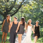 Chic Purple and Gray Bridesmaids | Maru Photography | See More! https://heyweddinglady.com/glam-purple-and-green-enchanted-forest-wedding-from-maru-photography/