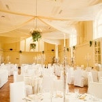 An Ivory and Yellow Irish Manor House Reception | Weddings by Kara | See More! http://heyweddinglady.com/jazz-age-spring-wedding-in-ireland-by-weddings-by-kara/