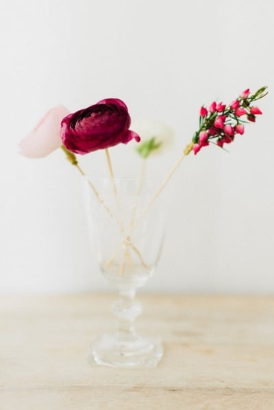DIY Floral Drink Stirrers for a Fun and Modern Bridal Shower! | Cambria Grace Photography | See More! https://heyweddinglady.com/fabulous-fuchsia-bridal-shower-inspiration-wedding-paper-divas/