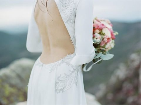Stunning Backless Glam Wedding Dress | Love Me Tender Photography | Belle and Chic - http://belleandchic.com/spain-bridal-editorial-from-love-me-tender-photo/