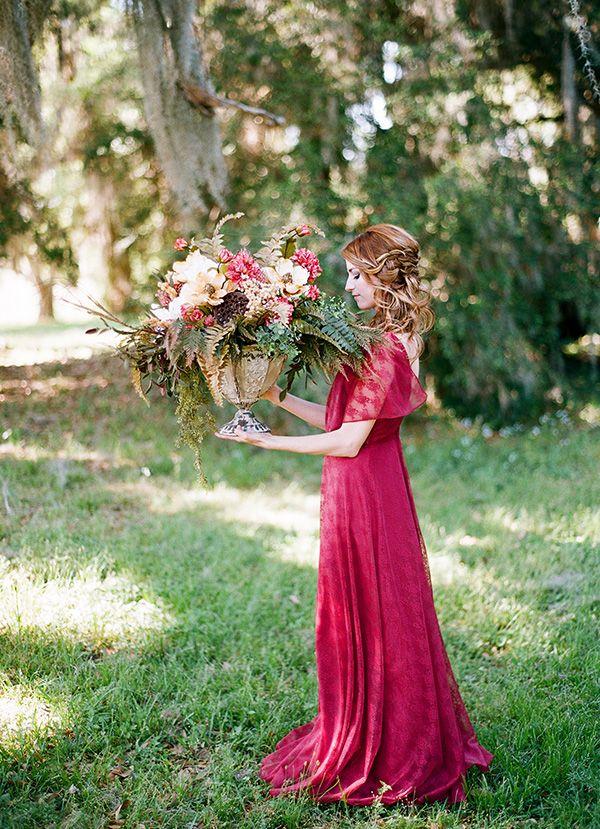 Rich And Wild Summer Berry Wedding Inspiration Hey