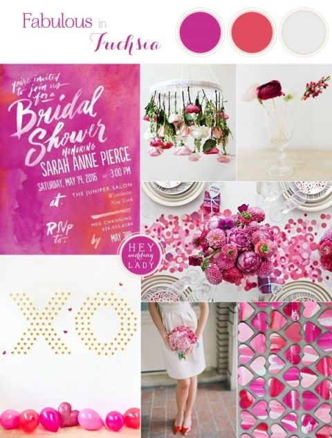 Fabulous Fuchsia Bridal Shower inspired by Wedding Paper Divas Artful Expression Invitation | See More! https://heyweddinglady.com/fabulous-fuchsia-bridal-shower-inspiration-wedding-paper-divas/