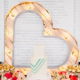 Modern Geometric Wedding Cake with a Heart Marquee | Why We Love Photography | See More! http://heyweddinglady.com/summer-citrus-wedding-inspiration-in-coral-yellow-and-aqua/
