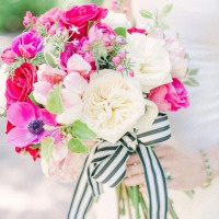 Chic & Modern Black and White Wedding Inspiration with Brilliant Fuchsia