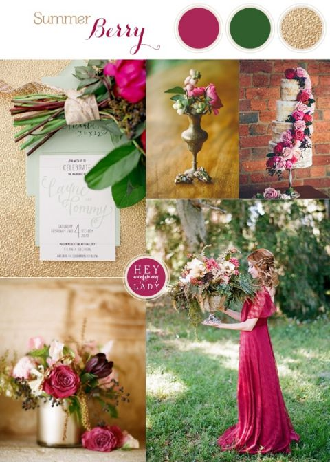 Rich and Wild Summer Berry Wedding Inspiration in Luxurious Hues | See More! https://heyweddinglady.com/rich-wild-summer-berry-wedding-inspiration/