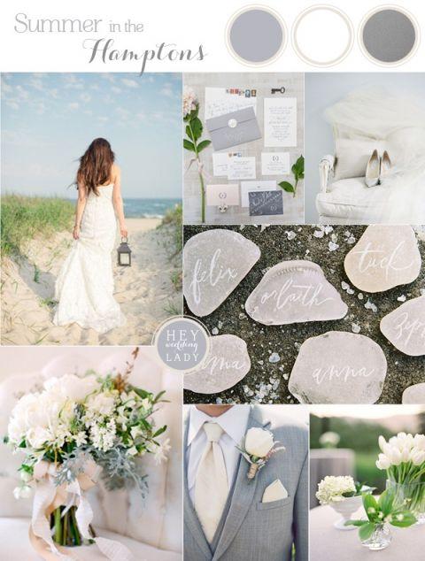 3e0152b3c37 Summer in the Hamptons - Beach Chic Wedding Inspiration in White