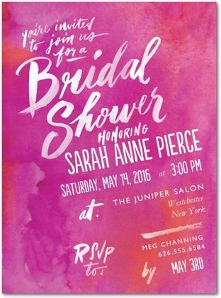 artful expressions bridal shower invitation by wedding paper divas in fuchsia see more https