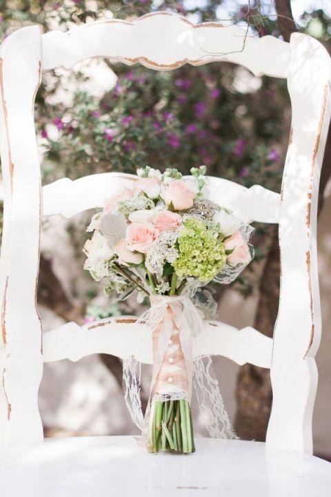 Blush Shabby Chic Bridal Bouquet | Dina Remi Studios | See More! http://heyweddinglady.com/peach-and-blush-vintage-shabby-chic-wedding-inspiration-from-dina-remi-studios/