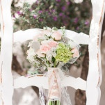 Blush Shabby Chic Bridal Bouquet | Dina Remi Studios | See More! https://heyweddinglady.com/peach-and-blush-vintage-shabby-chic-wedding-inspiration-from-dina-remi-studios/
