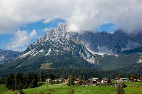Gorgeous view of the Austrian Alps   Wedding Memories   See More! http://heyweddinglady.com/alpine-wedding-in-austria-from-wedding-memories/