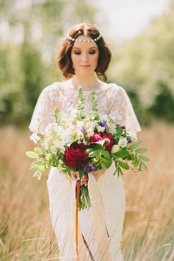 A Perfect Boho Chic Autumn Bridal Look | Paula OHara Photography | See More! http://heyweddinglady.com/bridal-styling-secrets-from-my-favorite-fashion-blogs/