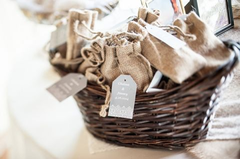 Natural Burlap Wedding Favors with Flower Seeds | Dawn Huemann Photography | See more! http://heyweddinglady.com/sweet-and-stylish-mountaintop-wedding-by-dawn-heumann-photography/