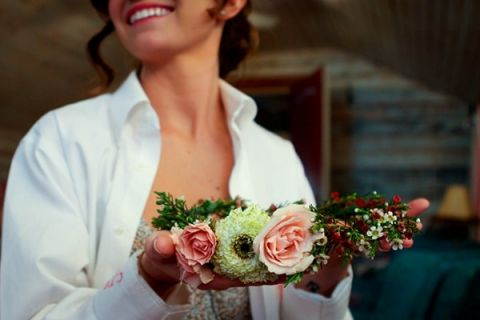 The Bride Handmade her Flower Crown from Wildflowers! | Captured By Colson Photography | See More! http://heyweddinglady.com/handmade-southern-wedding-at-the-peach-barn-by-captured-by-colson-photography/