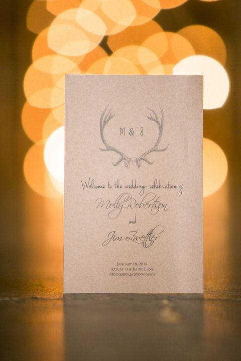 Industrial Glam Wedding Program | Erin Johnson Photography | See More! https://heyweddinglady.com/romantic-industrial-glam-wedding-from-erin-johnson-photography/