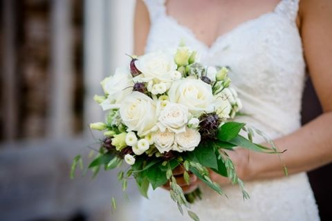Romantic White Rose and Mountain Wildflower Bouquet   Wedding Memories   See More! http://heyweddinglady.com/alpine-wedding-in-austria-from-wedding-memories/