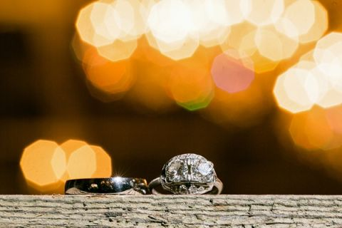 Double Stone Diamond Engagement Ring | Erin Johnson Photography | See More! https://heyweddinglady.com/romantic-industrial-glam-wedding-from-erin-johnson-photography/