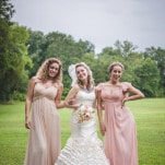Punk Glam Wedding Style with an Incredible Ruffled Wedding Dress | Maddie K. Doucet Photography | See More! https://heyweddinglady.com/punk-princess-bride-wedding-styled-shoot-from-maddie-k-doucet-photography/