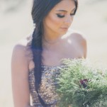 Rustic Glam Wedding Day Style with a Fishtail Braid and Gold Sequin Gown | Alexandra Wallace Photography | See More! https://heyweddinglady.com/the-ultimate-rustic-glam-elopement-from-alexandra-wallace-photography/