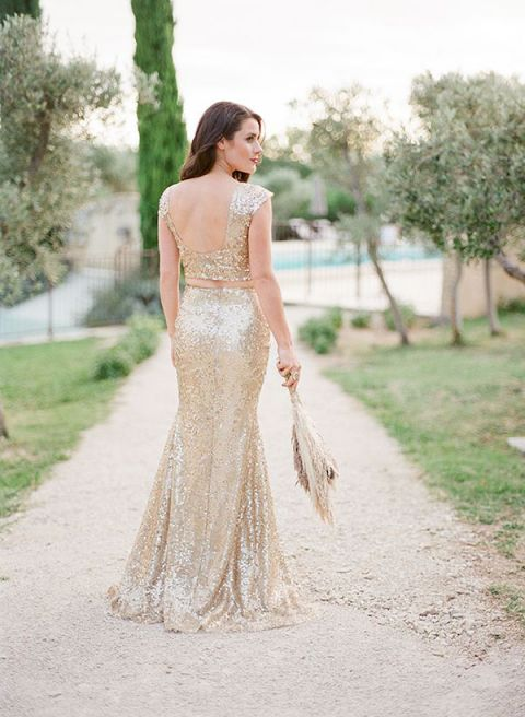 Fab bridal alternatives to the white wedding dress hey for White and champagne wedding dress