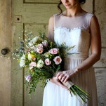DIY Wildflower Bouquet for a Southern Wedding at The Peach Barn | Captured By Colson Photography | See More! http://heyweddinglady.com/handmade-southern-wedding-at-the-peach-barn-by-captured-by-colson-photography/