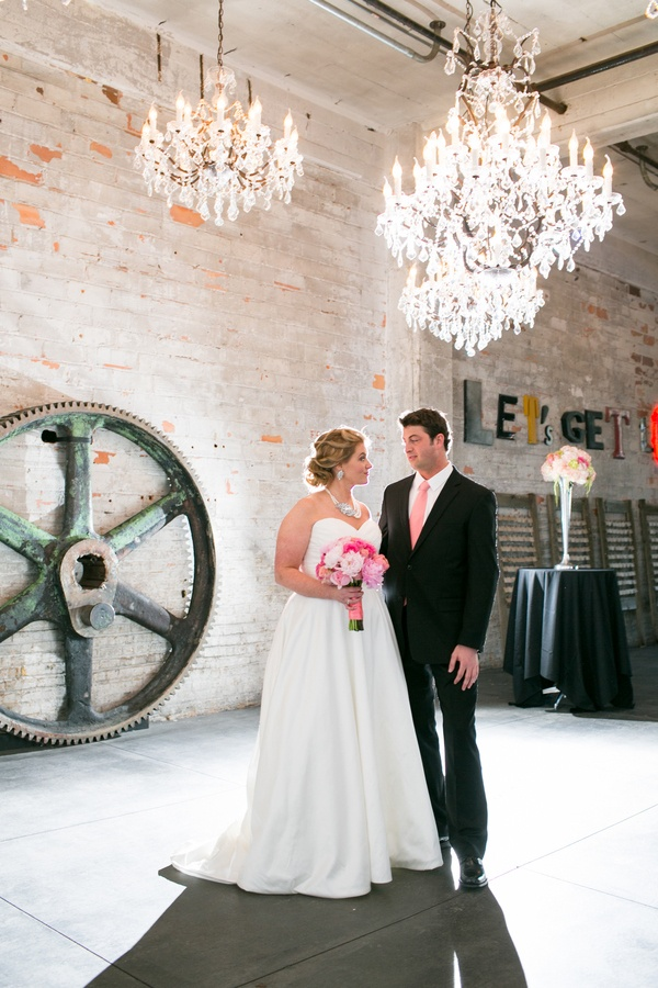 Romantic industrial glam wedding with old world charm erin johnson