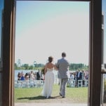 A Lakeside Southern Wedding Ceremony | Captured By Colson Photography | See More! https://heyweddinglady.com/handmade-southern-wedding-at-the-peach-barn-by-captured-by-colson-photography/