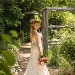 Gorgeous Garden Wedding Bridal Portrait | Lovely and Light | See More! http://heyweddinglady.com/southern-garden-wedding-brunch-in-jewel-tones-from-lovely-and-light/