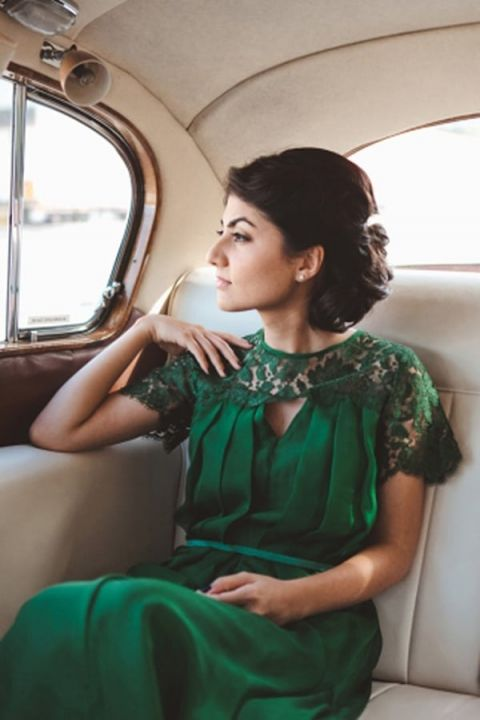 Vintage Emerald Green Wedding Dress | I Love Wednesdays Photography | See  More! Http: