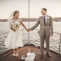 Vintage Nautical Wedding on a Yacht | Brit Jaye Photography | See More! https://heyweddinglady.com/vintage-nautical-wedding-on-a-yacht-from-brit-jaye-photography/