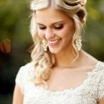 Stunning Classic Bridal Style with Statement Earrings | Pepper Nix Photography | See More! http://heyweddinglady.com/classic-vintage-blush-and-ivory-wedding-from-pepper-nix-photography/