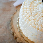 Petite Rustic Wedding Cake | Captured By Colson Photography | See More! https://heyweddinglady.com/handmade-southern-wedding-at-the-peach-barn-by-captured-by-colson-photography/